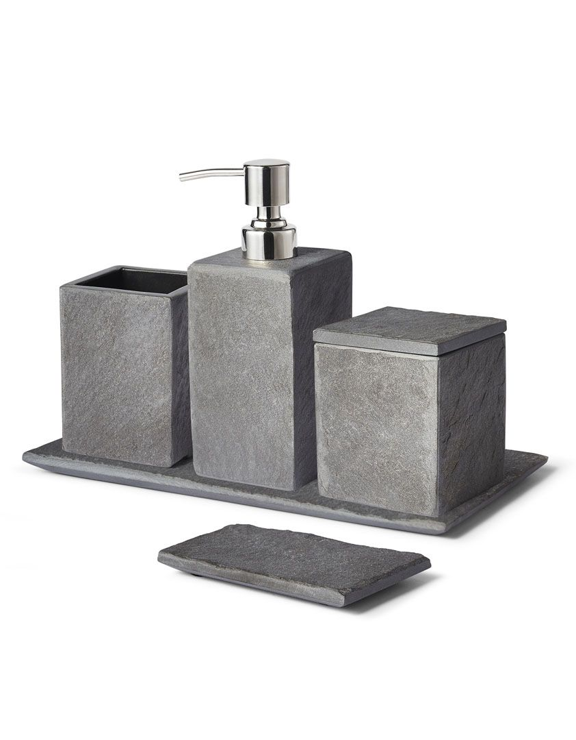 Slate Bath Accessory Collection HOME MBR Style Pinterest - Slate bathroom accessories