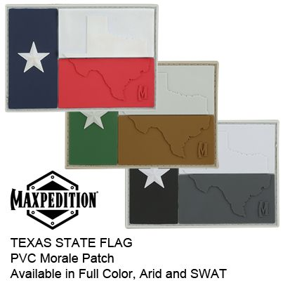 Texas Flag 3d Pvc Morale Patch Featuring Raised Tx State Outline In Stock Now Click To Order Http Www Maxpedition Co Morale Patch Patches Patch Logo