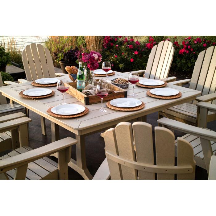 Vineyard Adirondack 9 Piece Nautical Trestle Dining Set Dining