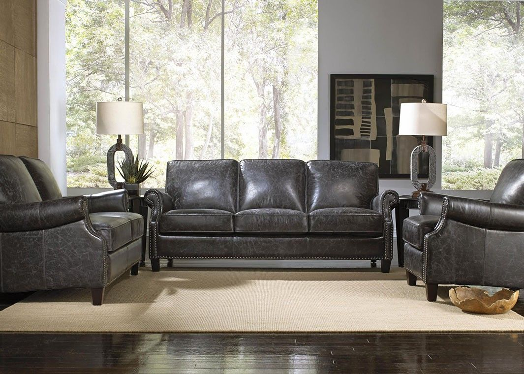Cool Charcoal Grey Leather Sofa Inspirational 36 In Living Room