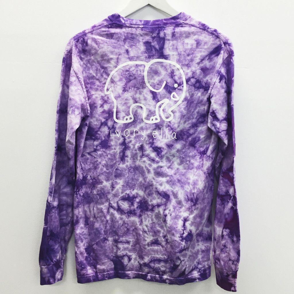 5c4f07f0fcfa5c Pocketed Lavender Acid Wash Tie-Dye Classic Print – Ivory Ella ...