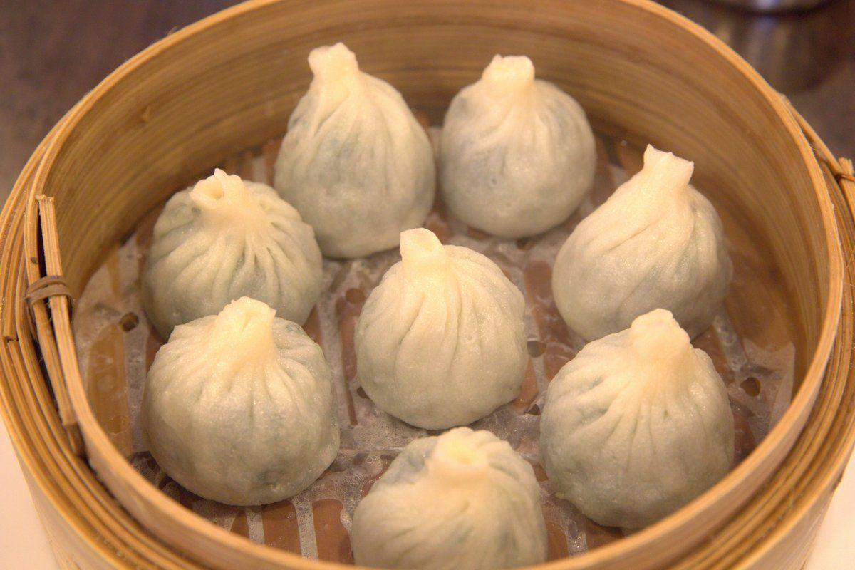 Vegetarian Xiao Long Bao At Shanghai Street Dumpling In Melbourne Australia