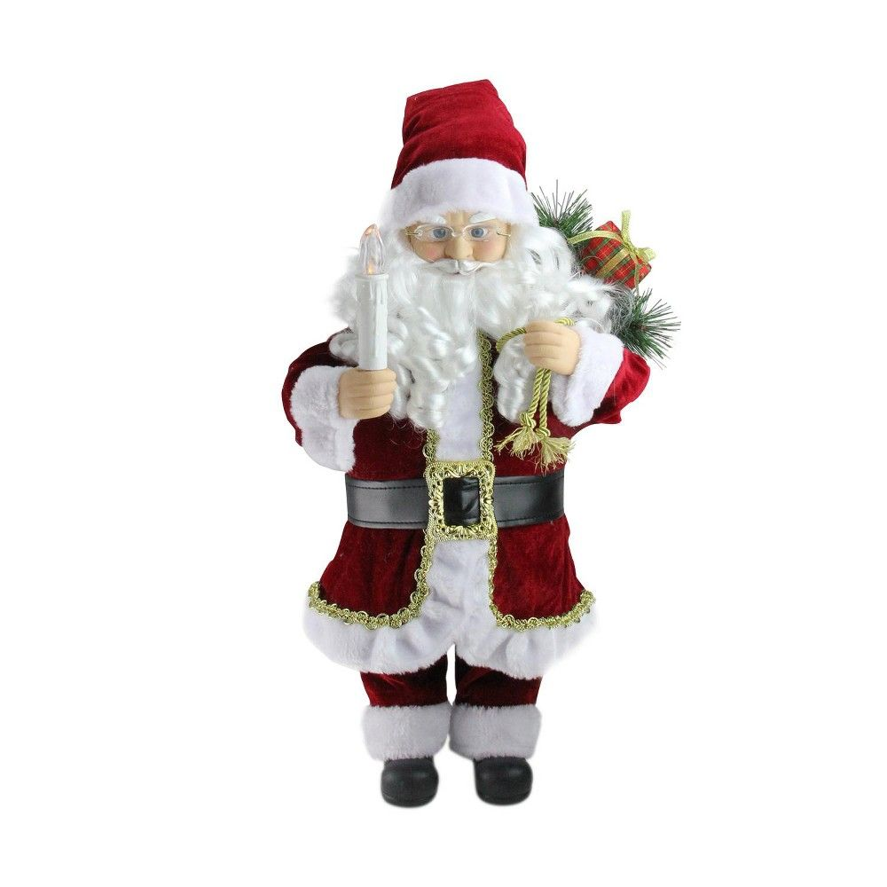 """24/"""" Animated African American Santa Claus with Lighted Tree Christmas Decor"""