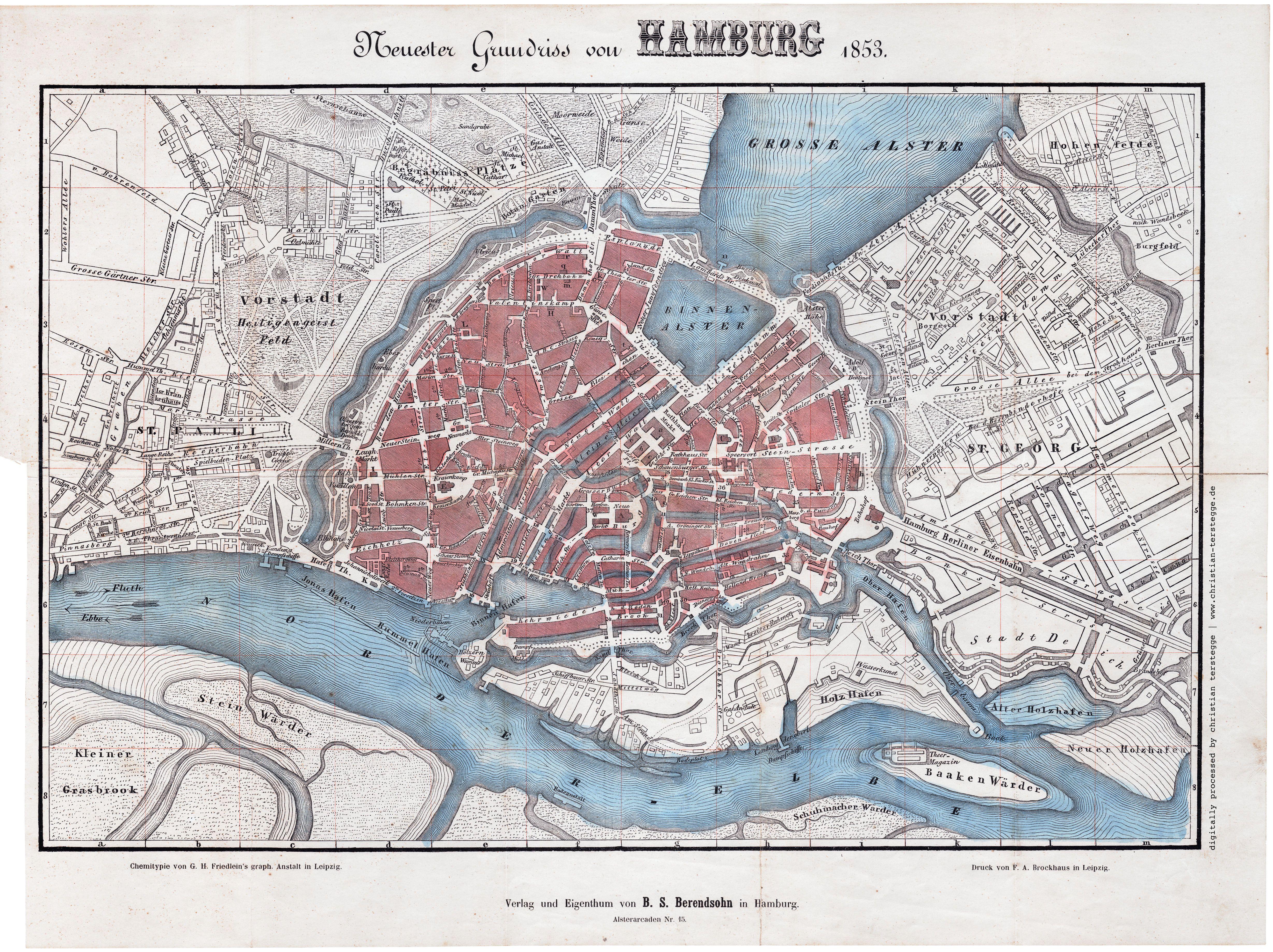 Pin Von Klaas Auf Hamburg Mit Bildern Illustrierte Karten