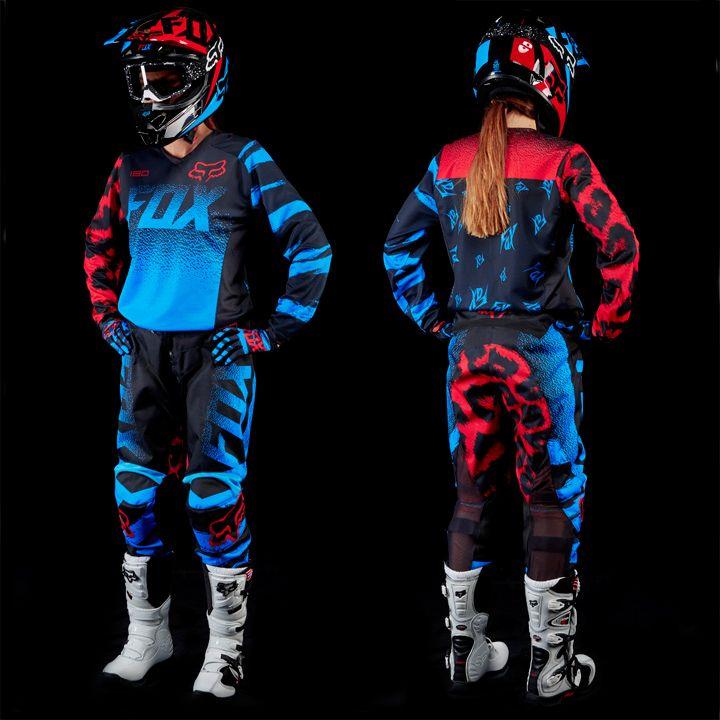 Womens 180 Blue Dirt Bike Gear Motocross Gear Bike Gear Women