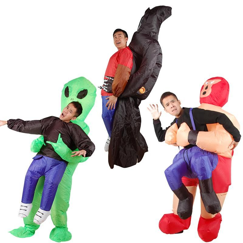 Adult Inflatable Costume Halloween Blow Up Suit Party Fancy Dress