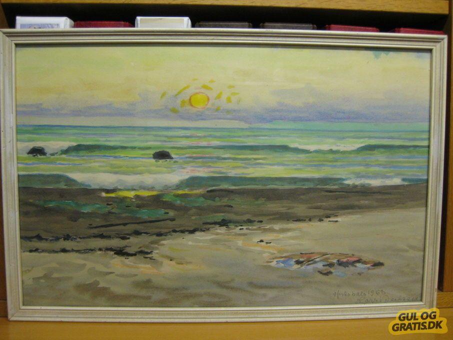 Malerier Af Lars Nielsen Hirtshals Billede 3 Malerier Maling Antikviteter