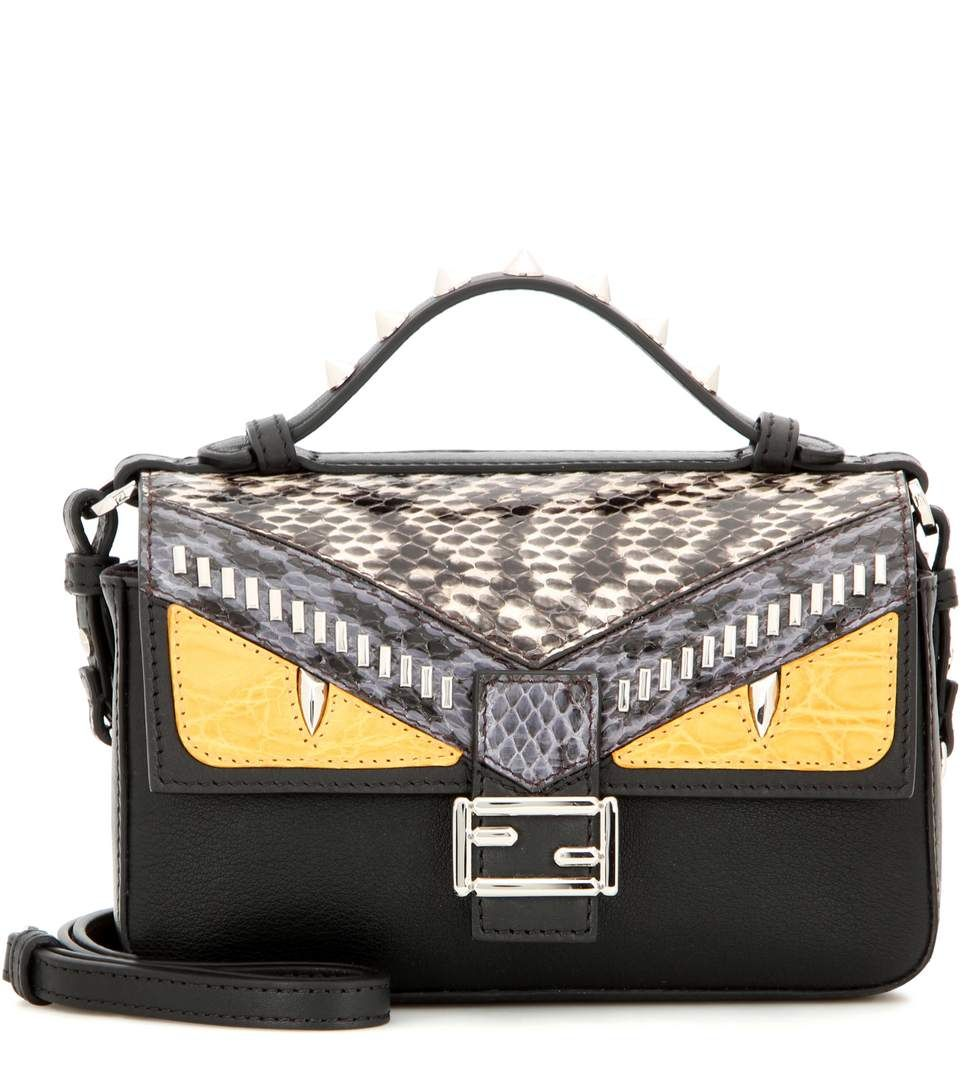 eff55dc37007 mytheresa.com - Double Micro Baguette snakeskin-trimmed leather shoulder  bag - Bags - Fendi - Designers - Luxury Fashion for Women   Designer  clothing