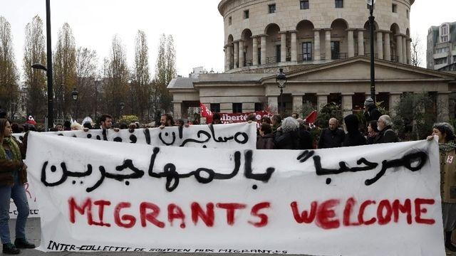 Manif de bienvenue pour les migrants