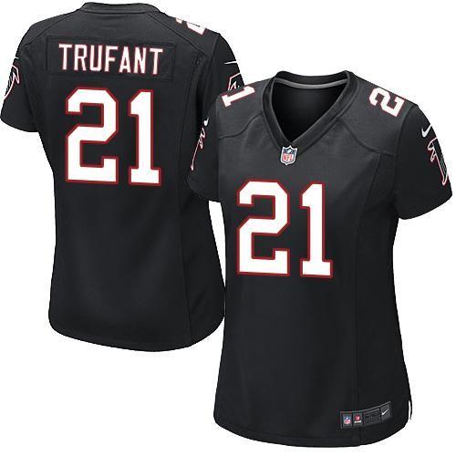 Nike Falcons #21 Desmond Trufant Black Alternate Women's Stitched ...