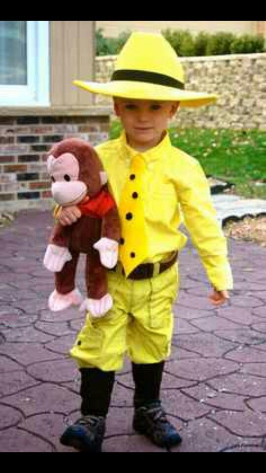 Perfect man in the yellow hat costume.....liam wants to be this for halloween.