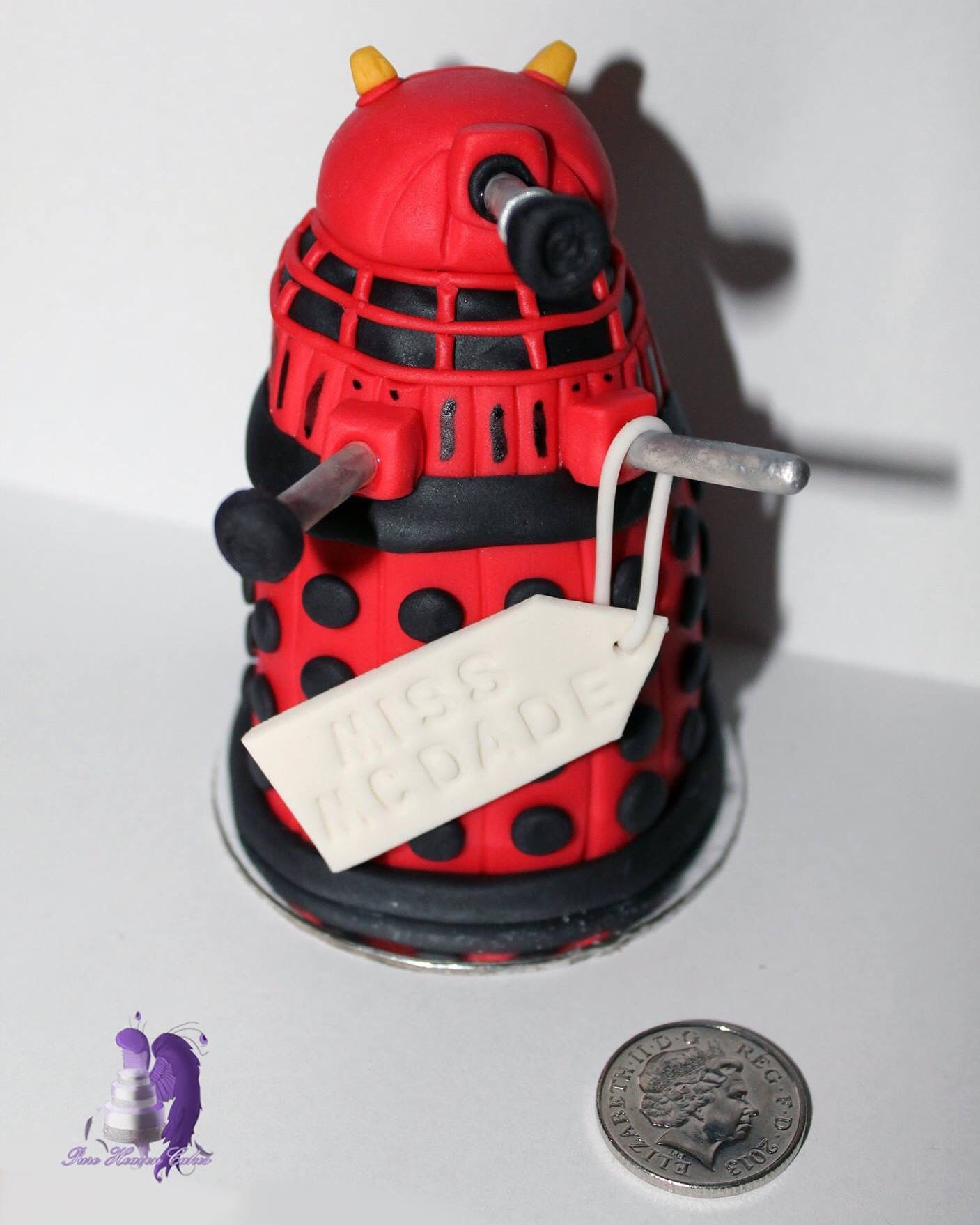 Mini dalek cake 10p for size reference this was a teachers mini dalek cake for size reference this was a teachers thank you gift i believe it might be dalek caan negle Images