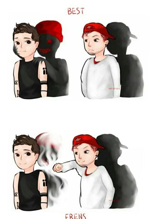 josh has demons too tho<<I think that's the beautiful thing about this, Josh is ignoring his own demons, which is brave, just so he can help fight Tyler's.