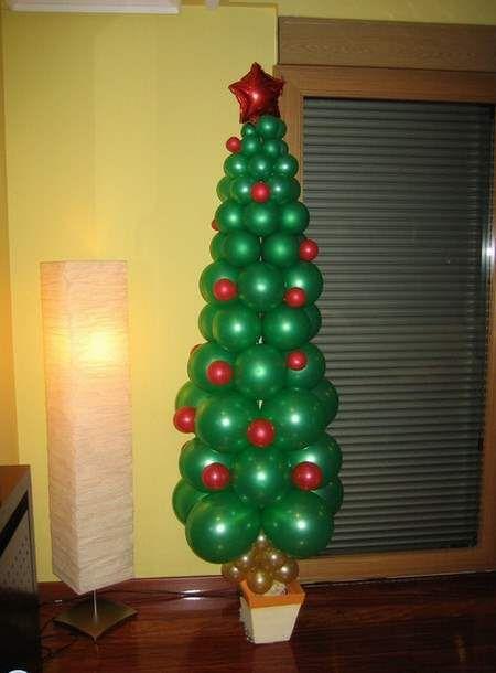 Decoracion de navidad con globos pinteres - Decoracion de navidad con globos ...
