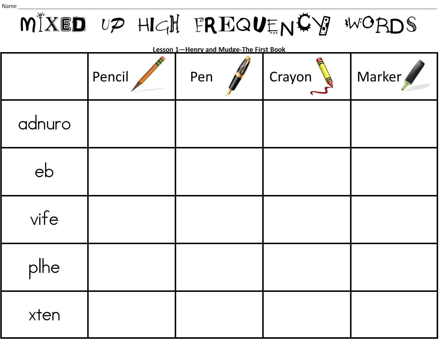 Journeys 2nd Grade High Frequency Words Activity Pack For All 30 Lessons