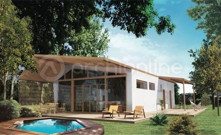 Maison Pastel  une maison Moderne conçue par l\u0027architecte François - Plan Maison Moderne  Chambres