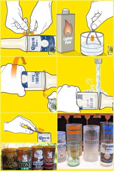 Miten tehdä lasipullosta juomalasi