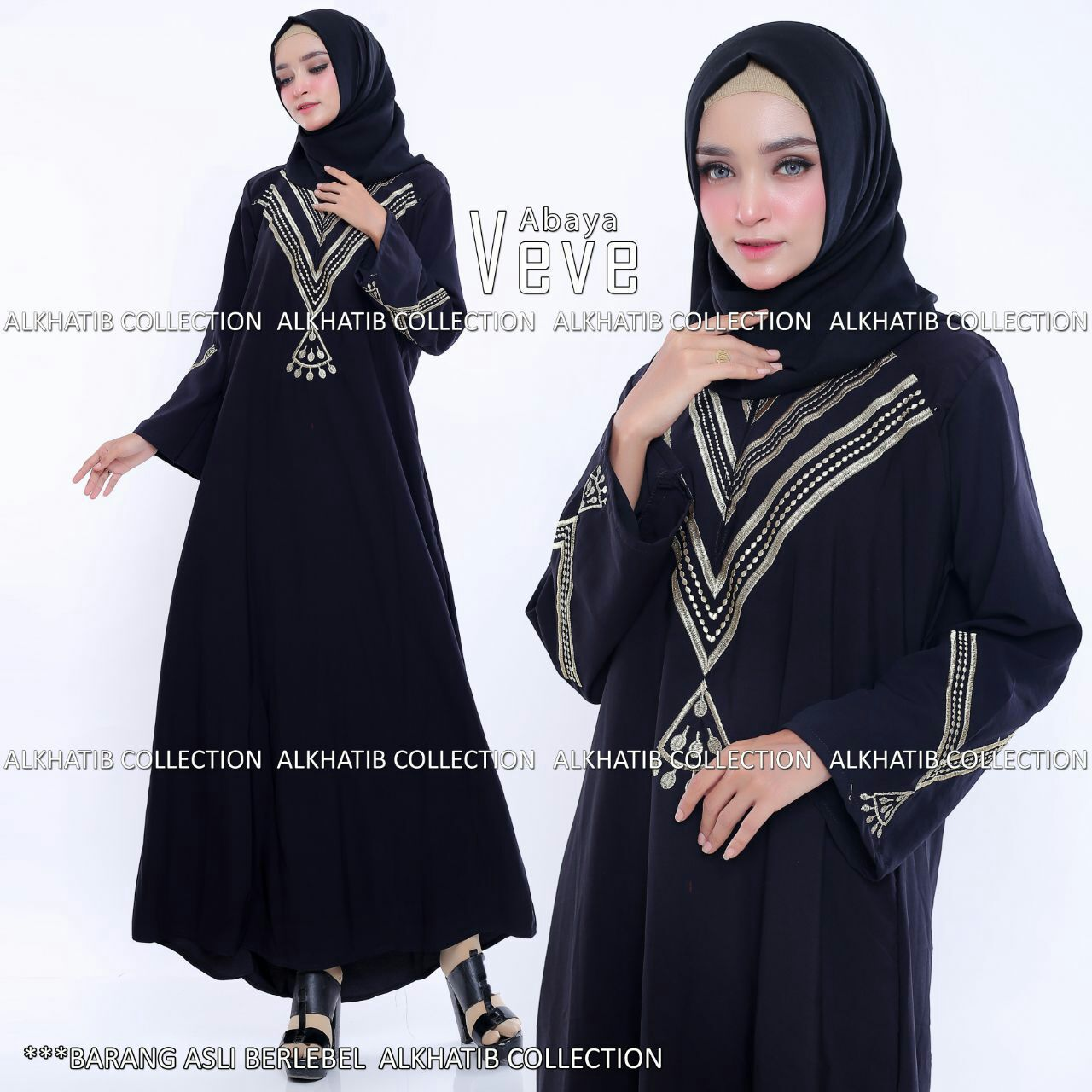 Baju Gamis Abaya Veve Ori Alkhatib, 12.12.12, Farisa Olshop