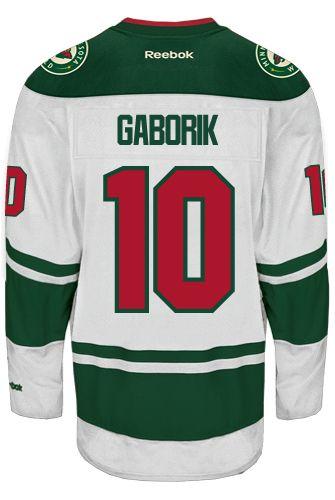 fa5b9afe18e Minnesota Wild VINTAGE Marian GABORIK  10 Official Away Reebok Premier  Replica NHL Hockey Jersey (HAND SEWN CUSTOMIZATION)