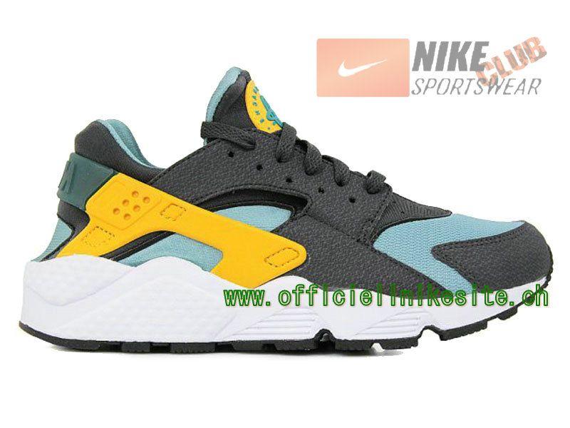 Nike Air Huarache - Chaussure Nike Sportswear Pas Cher Pour Homme Gris/Jaune 318429-307