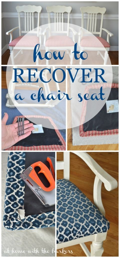how to recover kitchen chairs pinterest tutorials upholstery