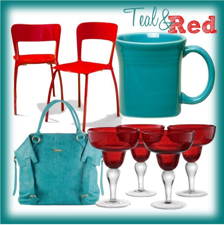 Color Inspiration: Teal & Red
