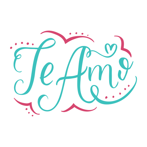 Te Amo Lettering Design Transparent Png Svg Vector I Love You Lettering Lettering Design Lettering