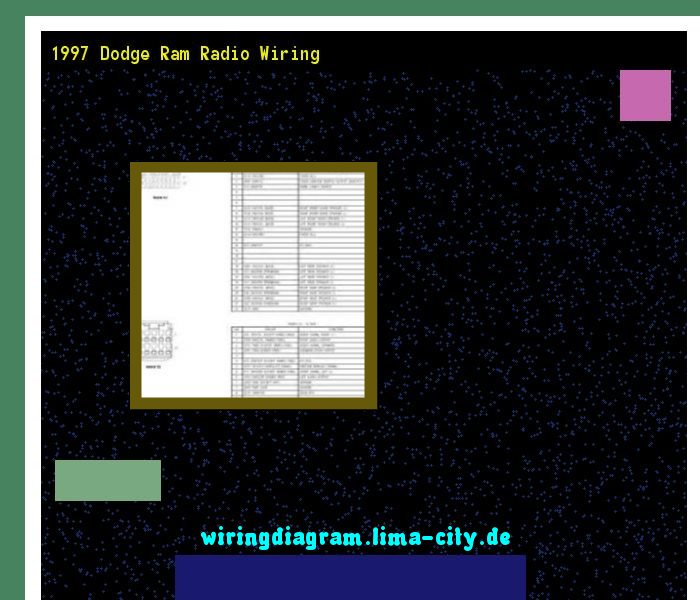 1997 Dodge Ram Radio Wiring Wiring Diagram 175521 Amazing Wiring Diagram Collection Dodge Ram Radio Dodge