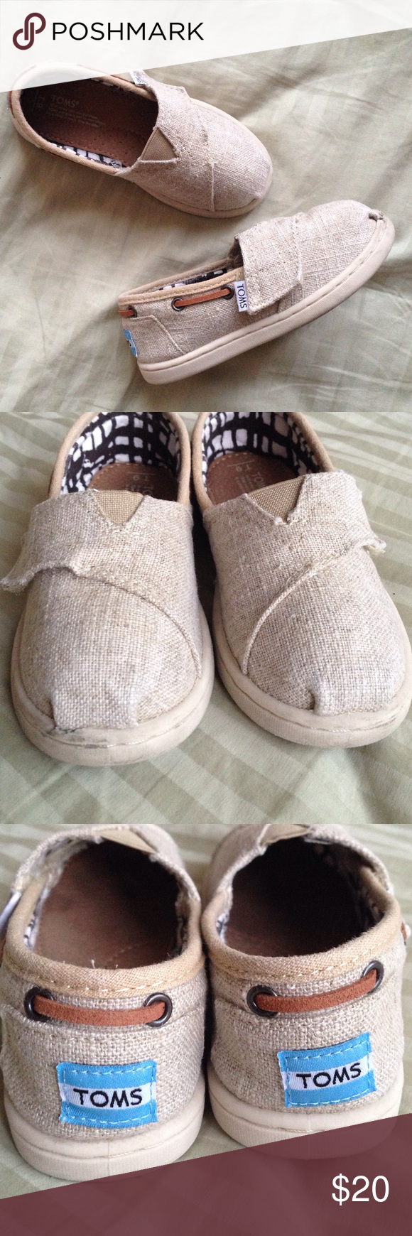 Toddler Boys Girls Burlap TOMS Gently worn in very good condition! Size 9. TOMS Shoes Sneakers