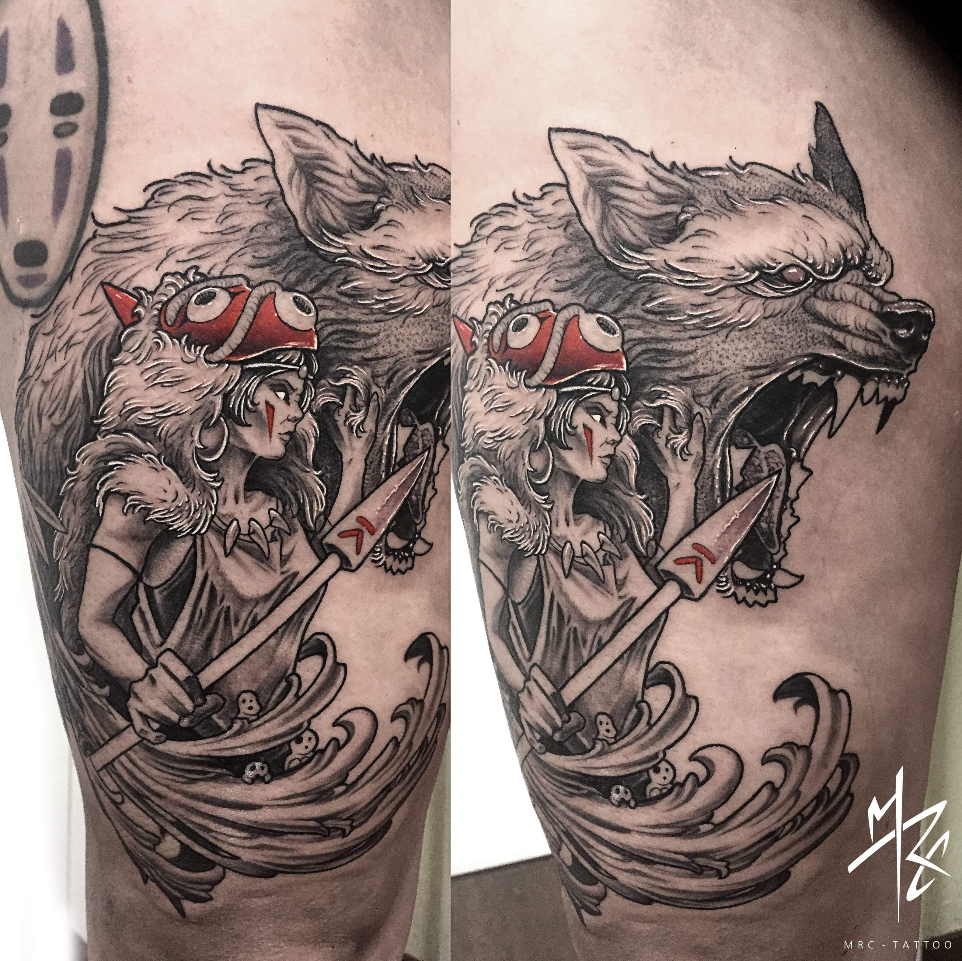 Ramón on   Princess mononoke tattoo, Sleeve tattoos ...   Princess Mononoke Tattoo Design