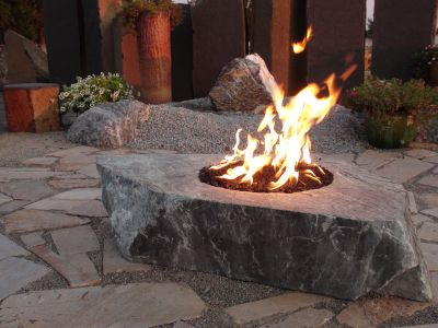 24 Quot Fire Boulder Gas Ran Comes With Black Lava Rock