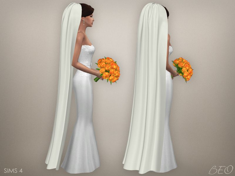 Wedding veil 05 (S4) DOWNLOAD - BEO creations | Sims 4 CC ...