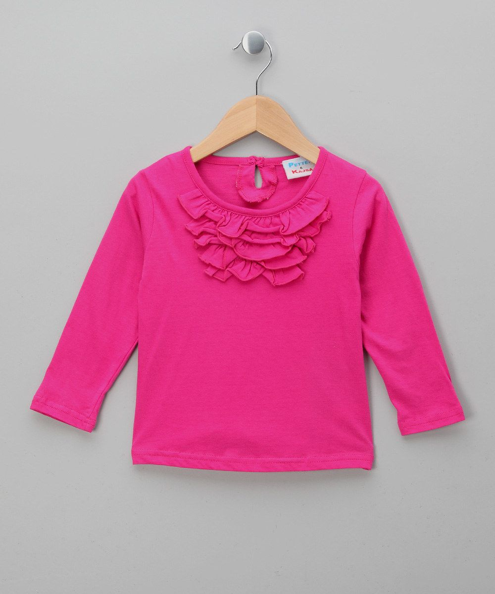 Look at this Bright Pink Ruffle Neck Tunic  on #zulily today!