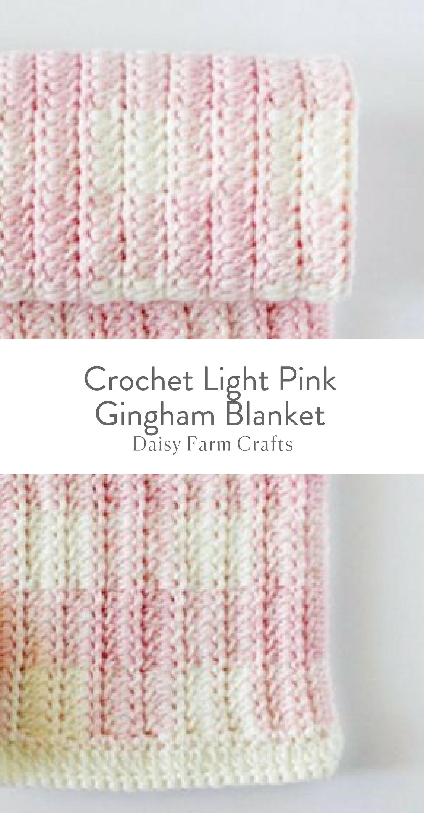 Free Pattern - Crochet Light Pink Gingham Blanket | mantas ...