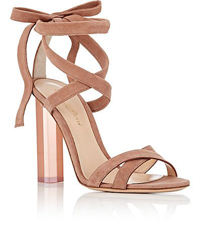 Gianvito Rossi Suede Ankle-Strap Sandals buy cheap wholesale price how much for sale cheap wide range of cheap prices authentic ebay sale online 0JeGm