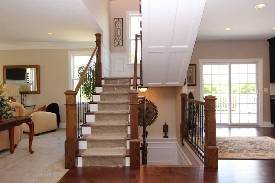 Living Room Dining Room Staircase Idea House Stairs