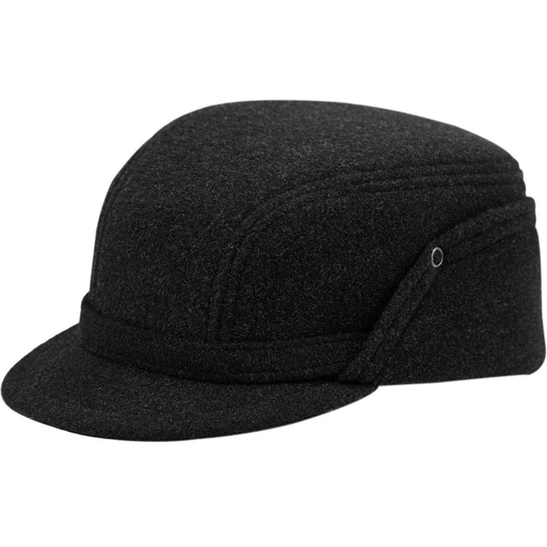 b07908565cd Wool Fleece Winter Working Cap with Ear Flap US 6 7 8 Dark grey at Amazon  Men s Clothing store