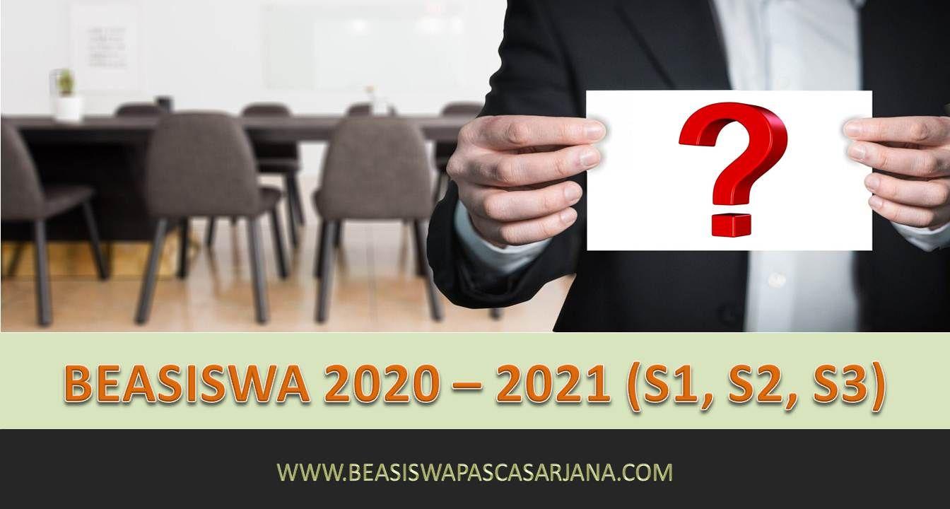 Pendaftaran Beasiswa 2020 Beasiswa 2021 S1 S2 S3 Aplikasi Pengikut