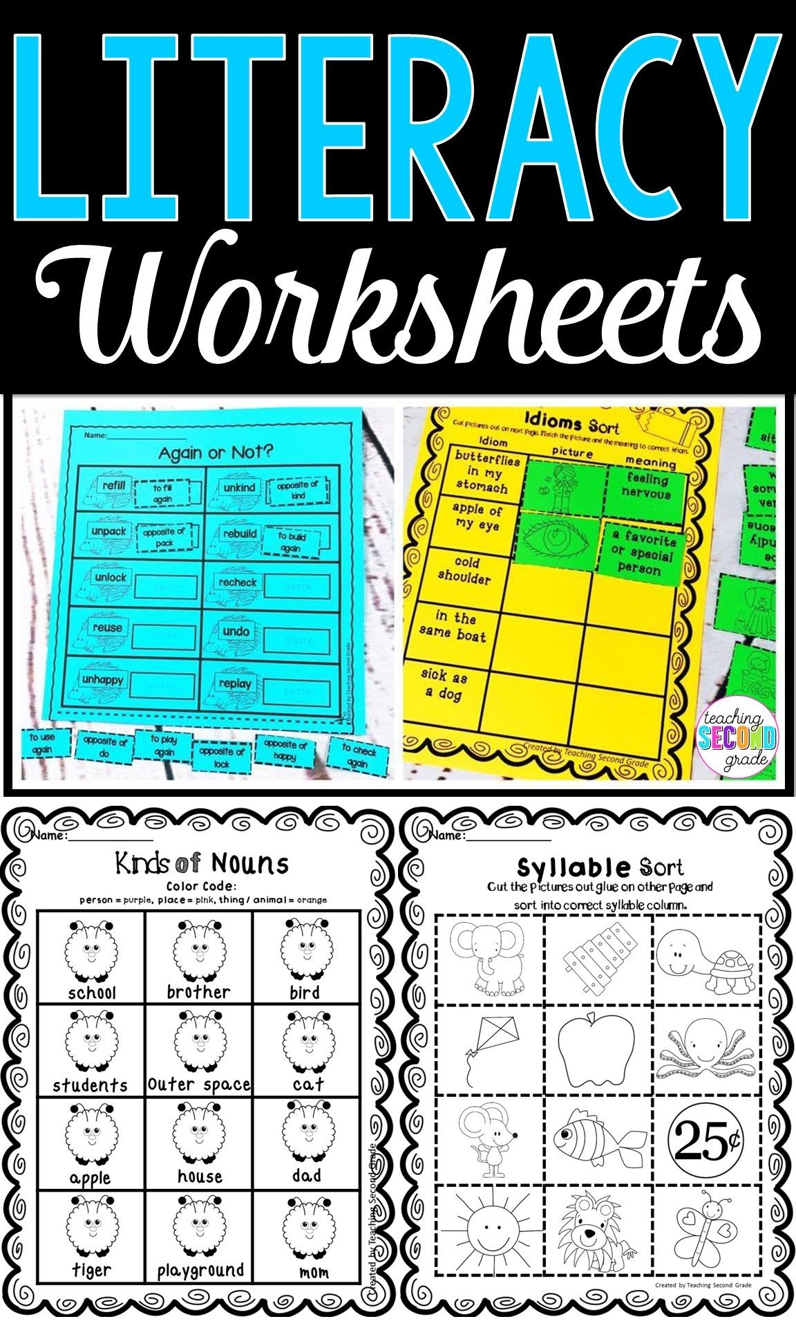 Literacy Worksheets | Literacy Activities | Literacy worksheets ...
