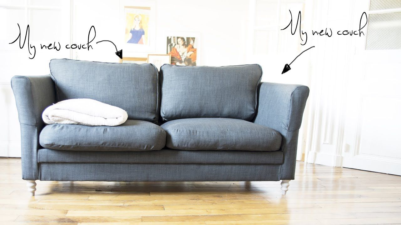 On my Own: How-to... reupholster your old couch?  Tiffany we're going Amish!!!