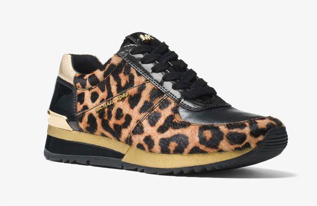 806e82be2e80 Michael Kors Animal Printed Shoes Allie leopard calf hair sneaker Animal  Print Purses
