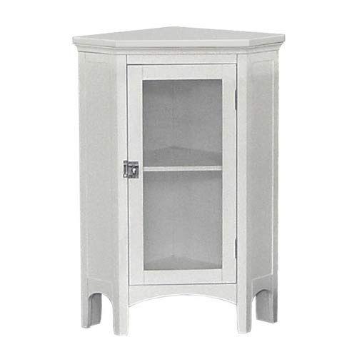 madison avenue white corner floor cabinet elegant home fashions