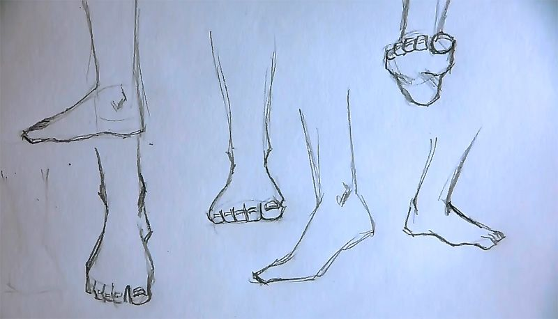 How To Draw Foot Feet Drawing Drawings Human Figure Sketches