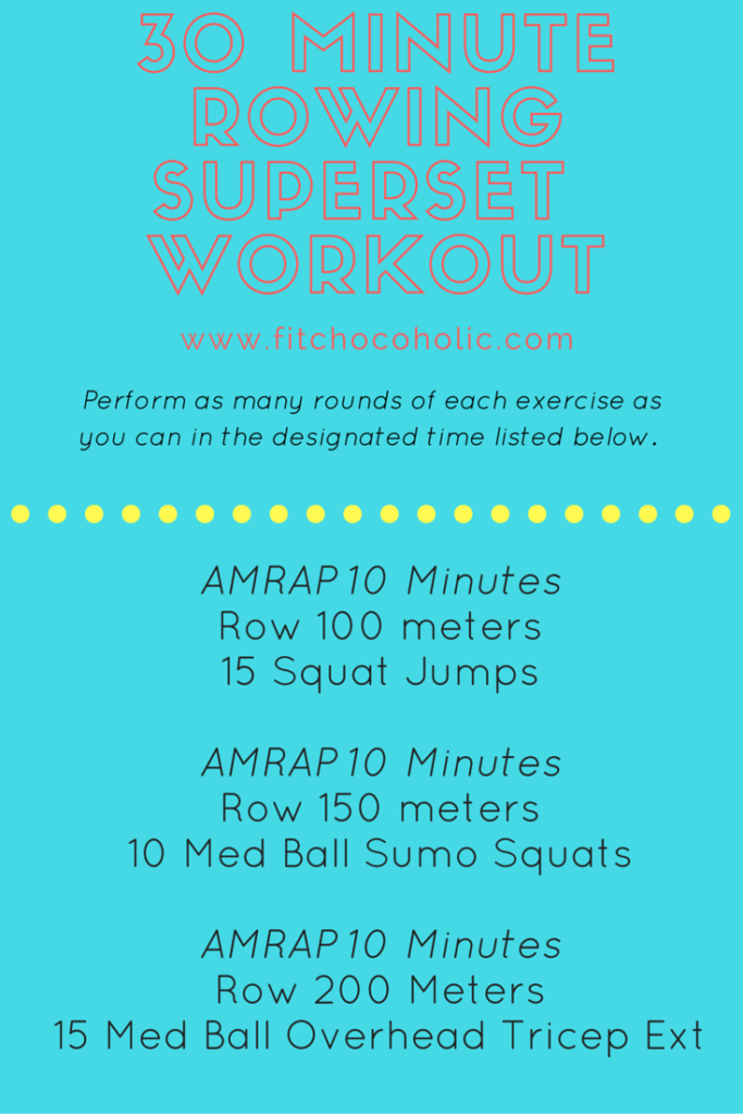 30 Minute Rowing Superset Workout Rowing Machine Workout Rowing