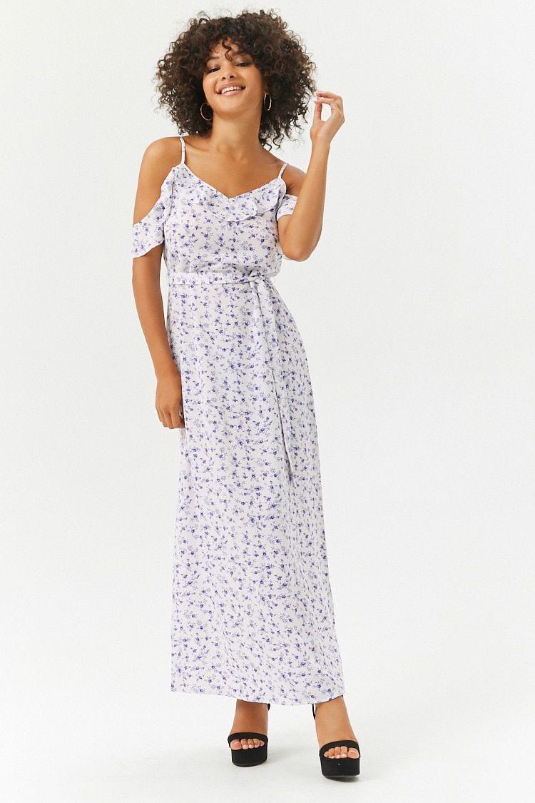 Product NameFloral Flounce Maxi Dress Categorydress Price