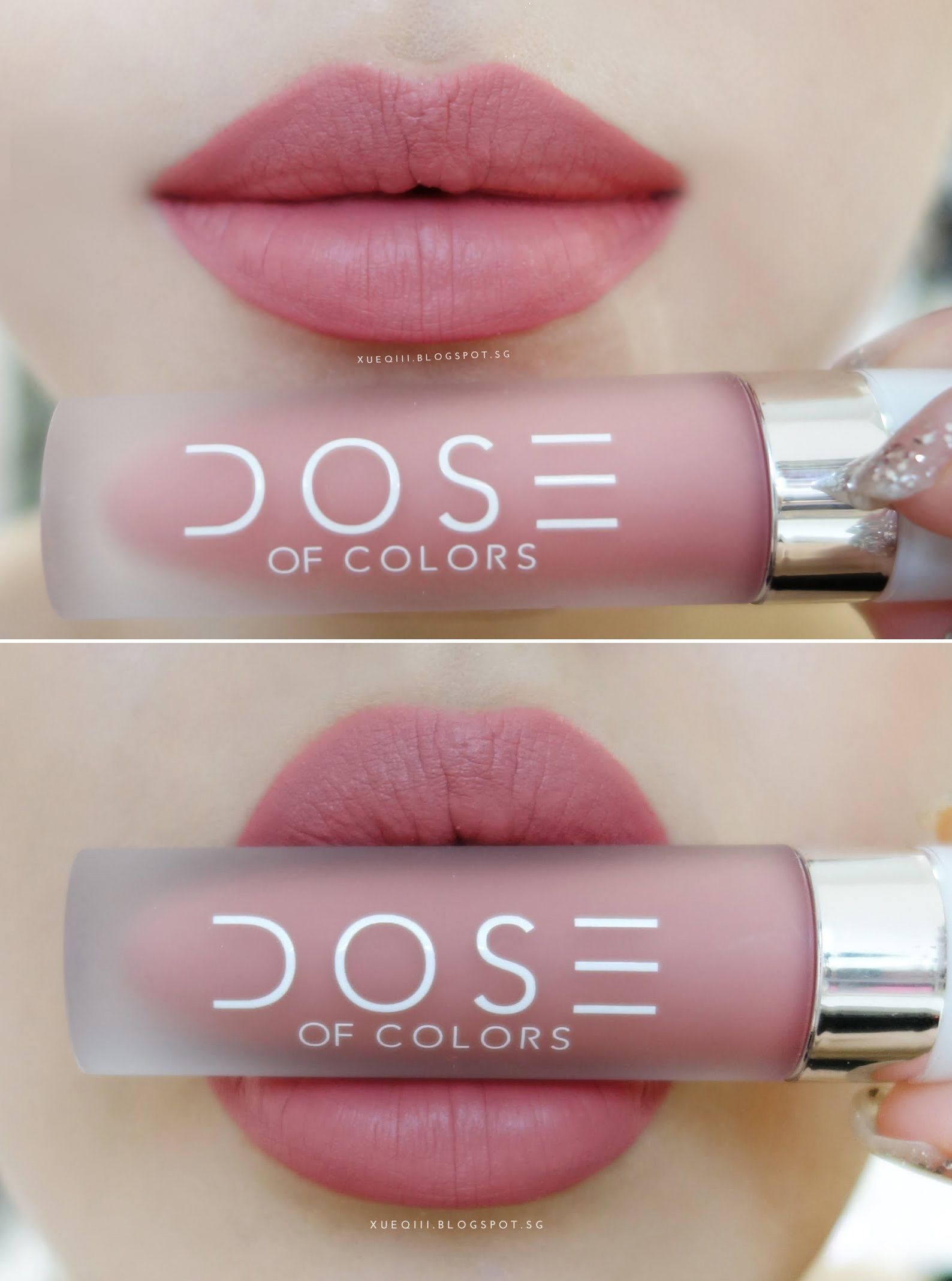 dose of colors liquid matte lipstick in bare with me doll face makeup cute lipstick skin. Black Bedroom Furniture Sets. Home Design Ideas