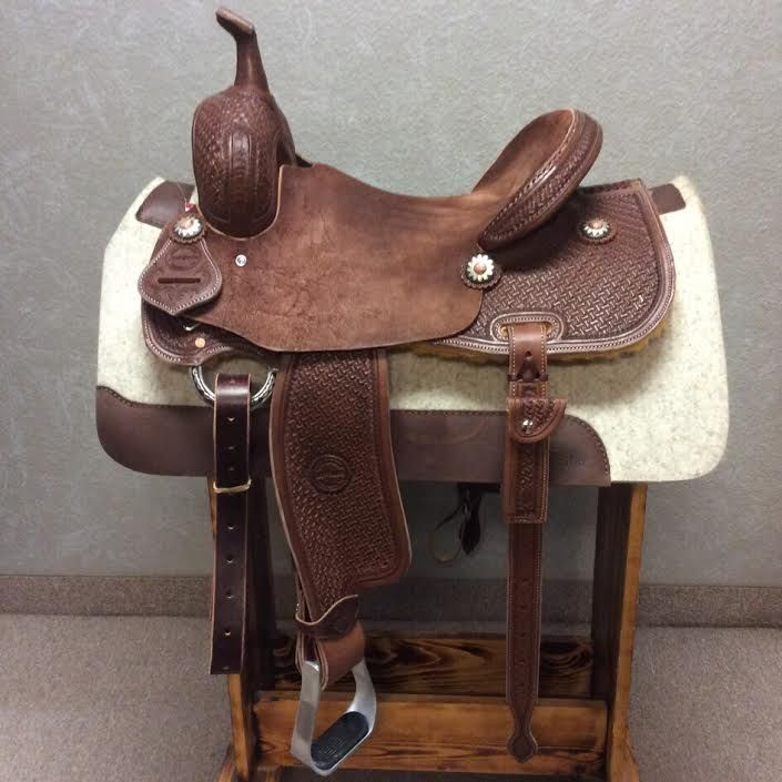 14 1/2'' Jeff Smith Barrel Saddle (JSB-126) chocolate medium