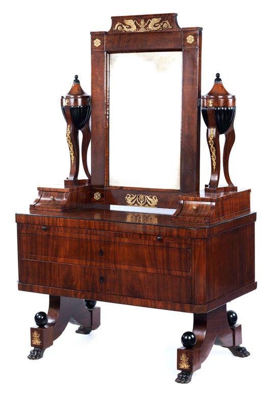 h he 170 cm breite 110 cm tiefe 58 cm um 1820 aufbau in weichholz furniert in mahagoni. Black Bedroom Furniture Sets. Home Design Ideas