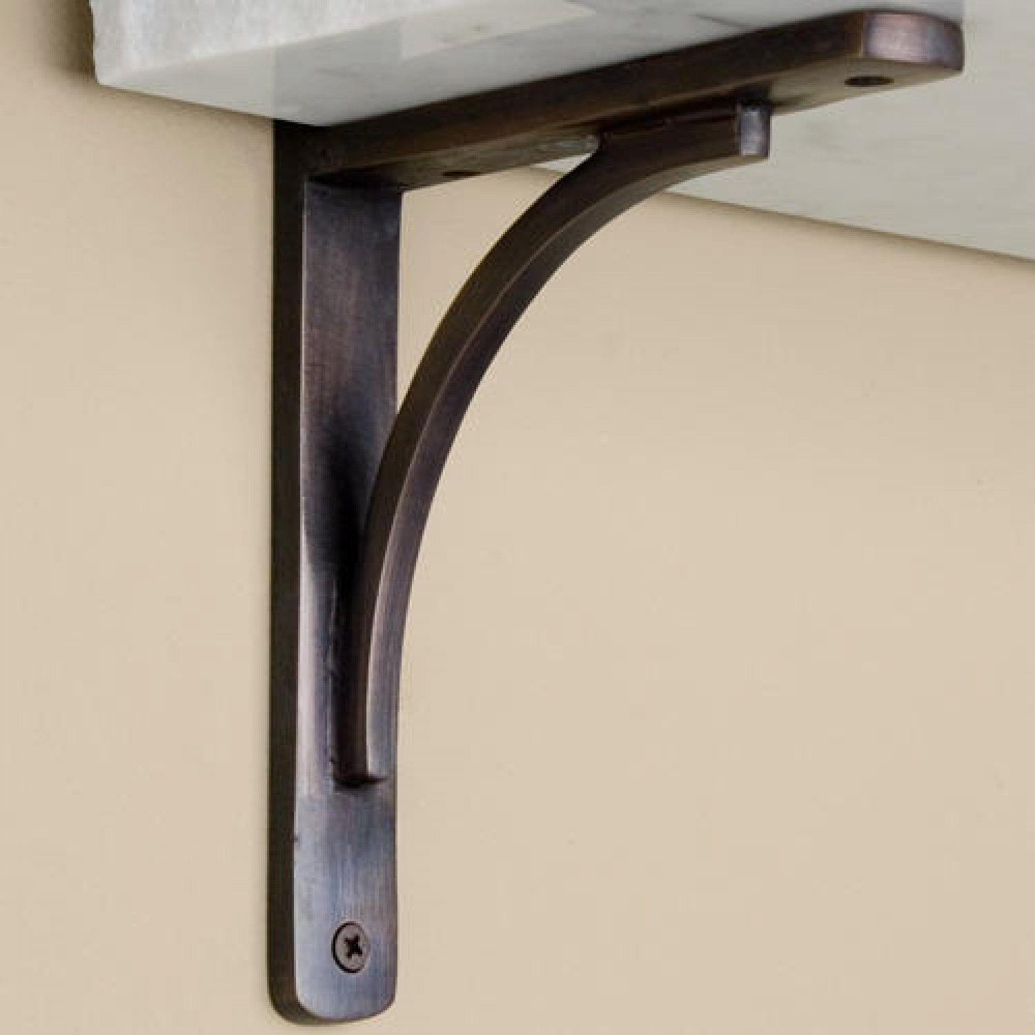 decorative metal brackets for countertops. Rustic Brass Shelf Bracket  shelf brackets