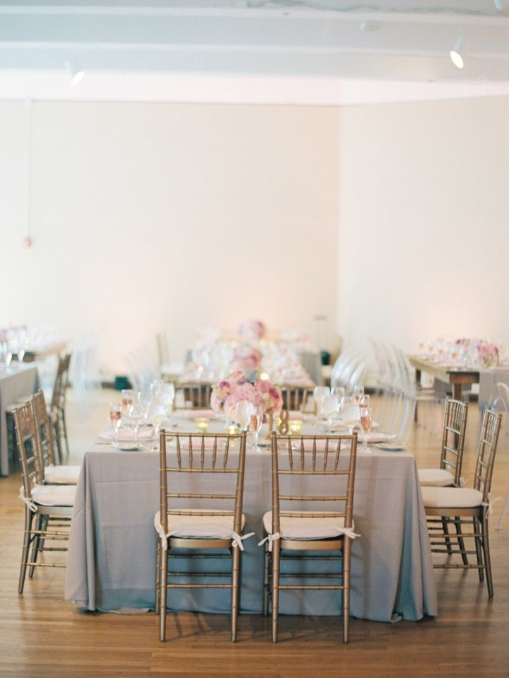 Blush pink and soft gray wedding colour theme
